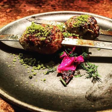 Duck and Foie Gras kebab  at Zahav