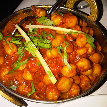 Chana masala at Bombay Darbar