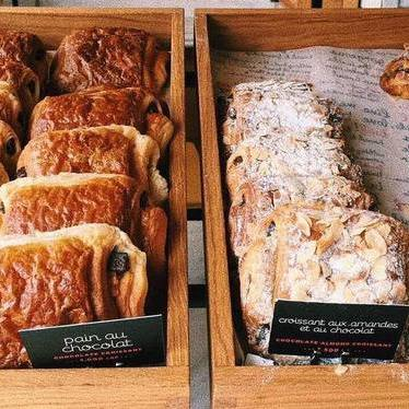 Chocolate and almond croissants at Tartine Bakery