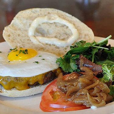 Basic burger at Chez Maman East