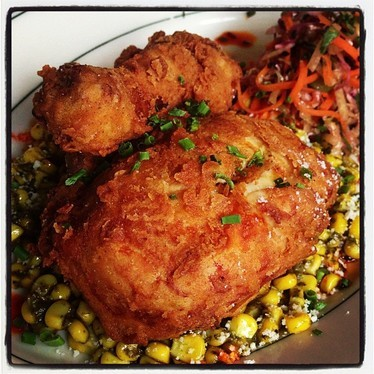 Fried chicken at Coppelia