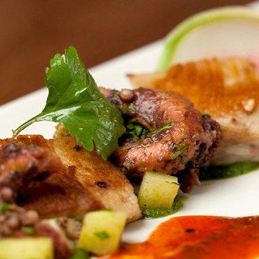 Moroccan octopus & pork jowls at Oak