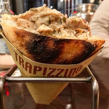 Hot pocket with chicken at Trapizzino
