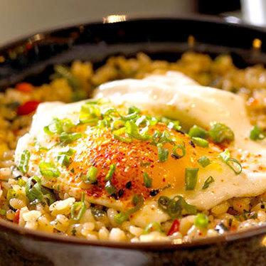 Thai fried rice w/ farm fresh egg at Shinsei