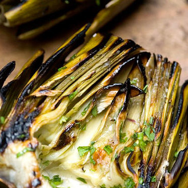 Grilled artichokes at Hillstone Restaurant
