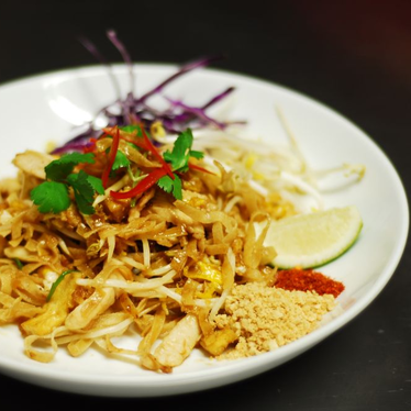 Crispy pad thai with tofu at Palm Sugar