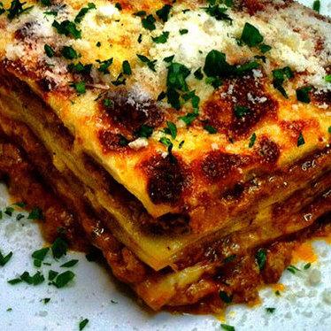 Lasagna Bolognese at Caffe Mingo