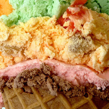Ice cream at Rainbow Cone