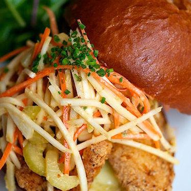 Fried cod sandwich at Little Bird Bistro