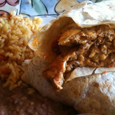 Chorizo & egg burrito at Taco El Jaliciense