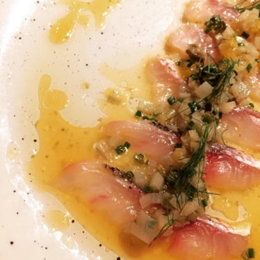 Snapper crudo at Compère Lapin