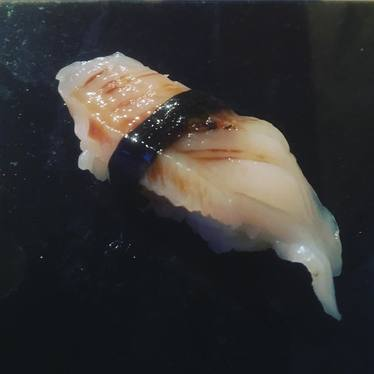 Smoked Geoduck Nigiri at Masayoshi