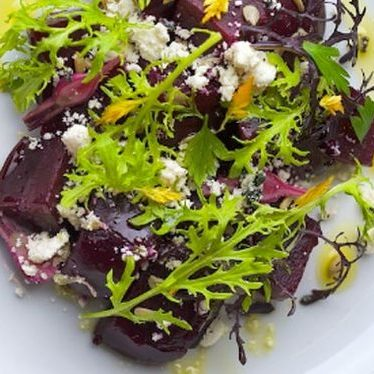 Roasted beets & ricotta salata at Clyde Common