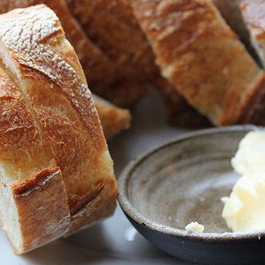House-made sourdough bread and butter at Sitka & Spruce