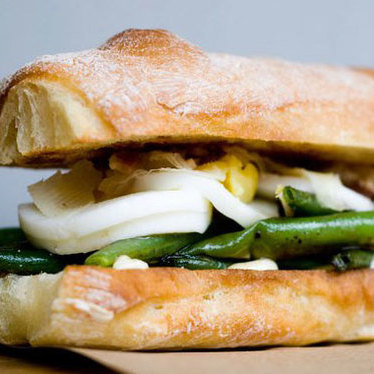 Asparagus sandwich at Meat Cheese Bread