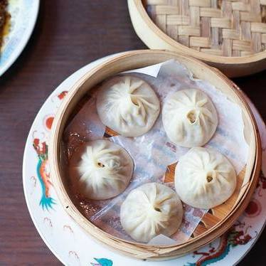 Soup dumplings at Duck Duck Goat