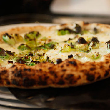 Brussels sprout pizza at Motorino
