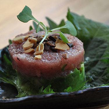 Toro tartare bite at Arami