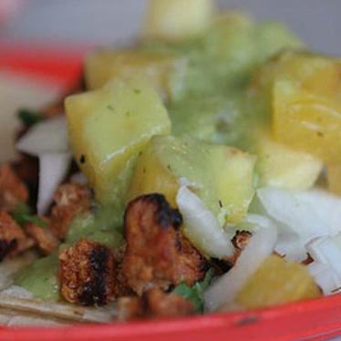 Tacos de lengua at La Esquina