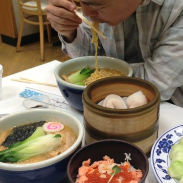 Ramen and Ikura bowl at Mitsuwa Marketplace
