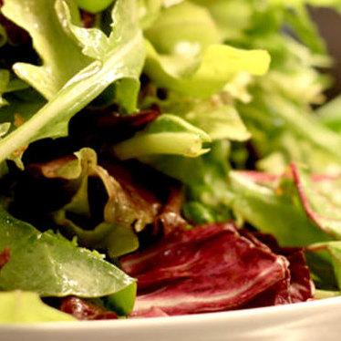 Mixed green salad at Morimoto