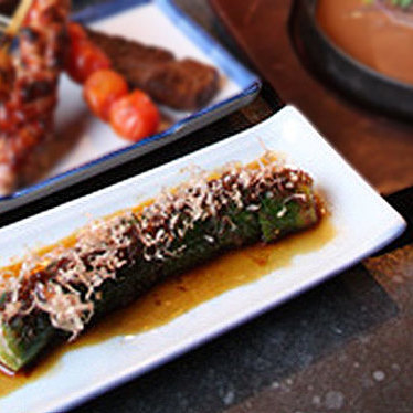 Spicy pickled cucumber at Juban