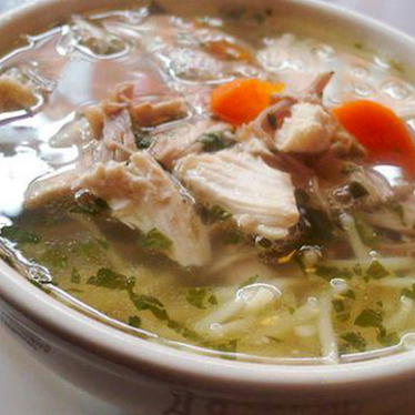 Chicken noodle soup at Veselka