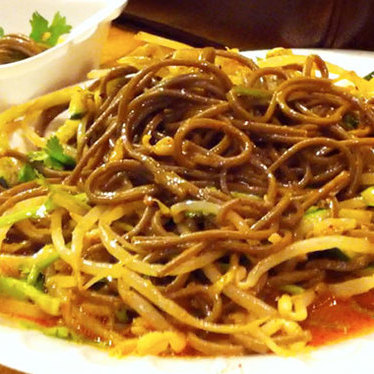 Cold buckwheat noodles at Xi'an Famous Foods
