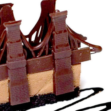 Chocolate Brooklyn Bridge at The River Café