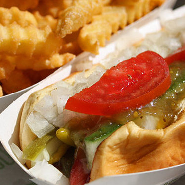 Shack-cago Dog at Shake Shack