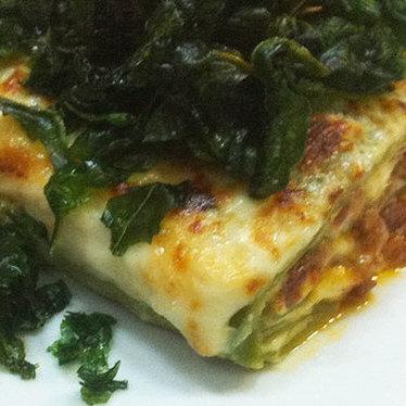 "Lasagna verde ""Omaggio Nonna Elvira"" at Angelini Osteria"