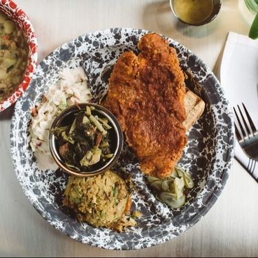 Southern Fried Catfish Social Platter at Gilbert's Social