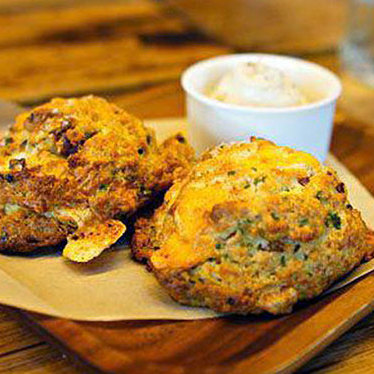 Bacon cheddar buttermilk biscuits at Manhattan Beach Post