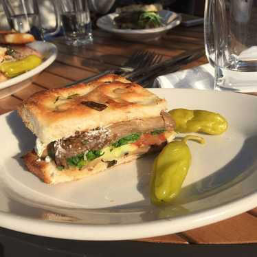 Oven-Baked Breaded Eggplant Sandwich at Mario's Bohemian Cigar Store Cafe