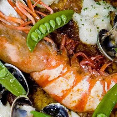Fideua w/ seafood at SOCARRAT Paella Bar - Chelsea
