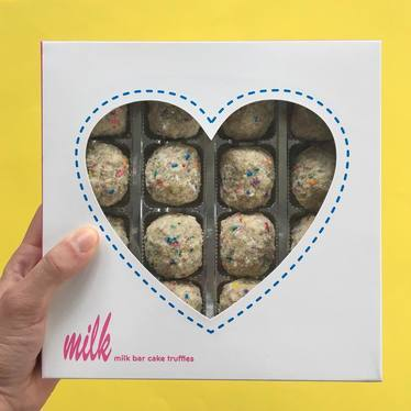 Box of cake truffles at Momofuku Milk Bar