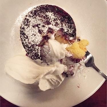 Polenta Cake, my favorite dessert in Seattle... at Bar Del Corso