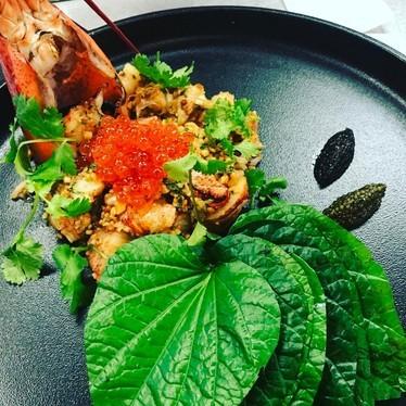 Lobster Miang, two caviars & ikura at Maenam