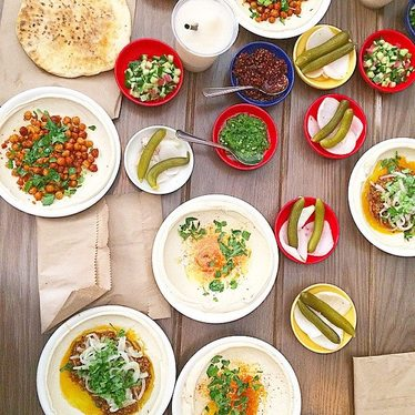 Hummus at Dizengoff