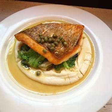 Snapper with cauliflower purée at Chez Nous