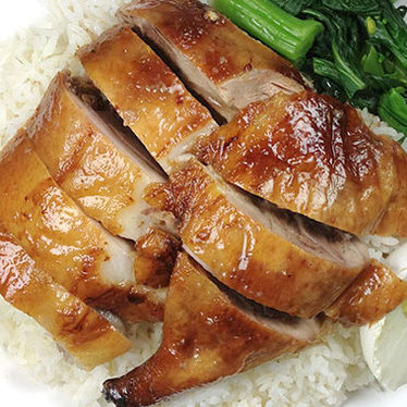 Roast duck on rice at Sun Wah BBQ