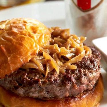House-ground Meyer Ranch beef burger at Owen & Engine