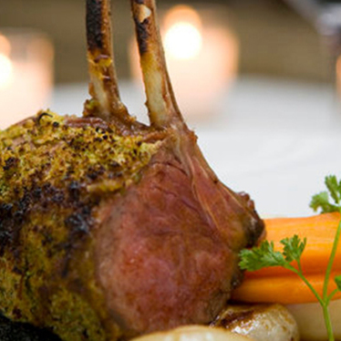 Grilled rack of lamb at Gotham Bar and Grill