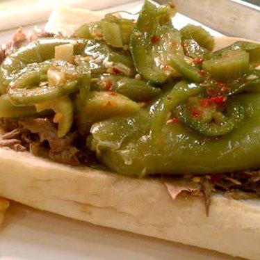 Italian beef sandwich at Jay's Beef