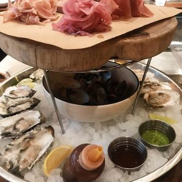Oyster and charcuterie platter at Jackrabbit