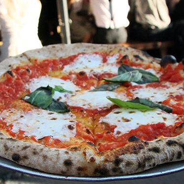 Margherita pizza at Roberta's Pizza