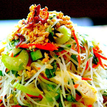 Green papaya salad at The Slanted Door