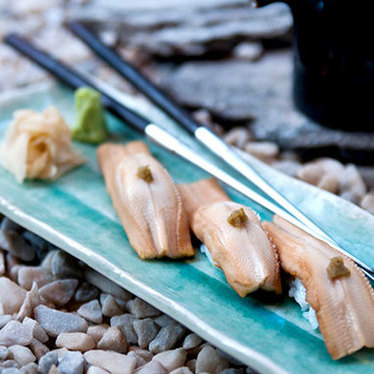 Sea eel w/ yuzu at Blue Ribbon Sushi