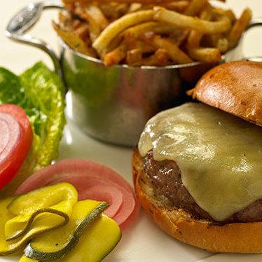 Boyden Farms burger at Harvest