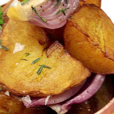 Lyonnaise potatoes at Mistral
